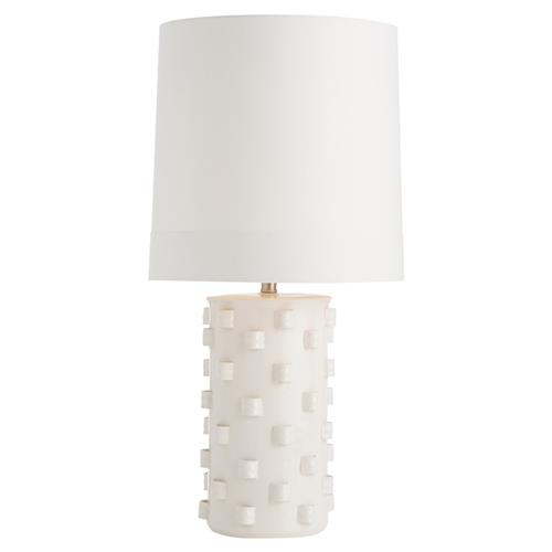 Arteriors Robertson Crackled Ivory Notch Table Lamp | Kathy Kuo Home