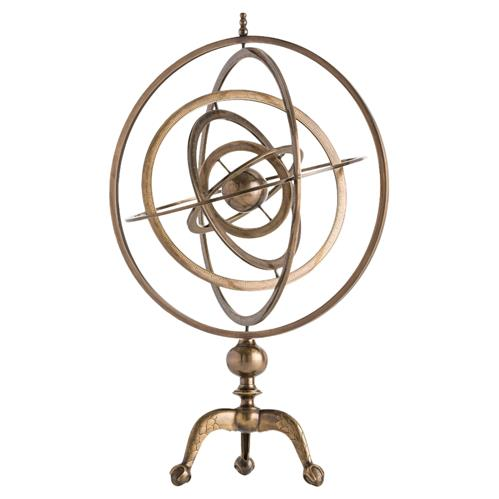 Antique Brass Armillary Sphere Sculpture | Kathy Kuo Home