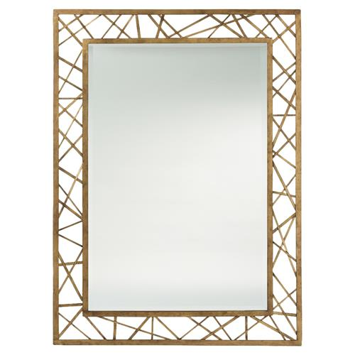 Modern Geometric Web Gold Leaf Mirror | Kathy Kuo Home