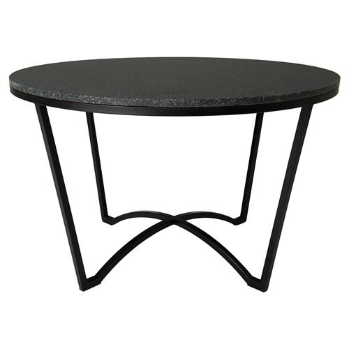 Gwen Loft Granite Black Outdoor Coffee Table | Kathy Kuo Home