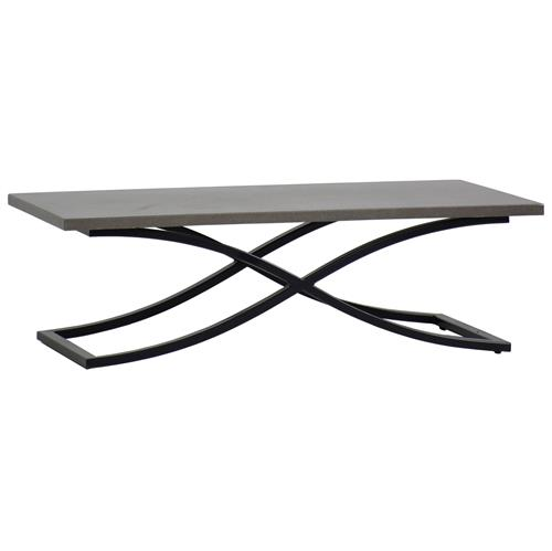 Marco Dove Grey Black Outdoor Coffee Table | Kathy Kuo Home