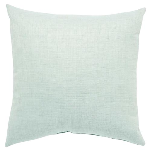 Coastal Modern Sea Green Outdoor Pillow - 18x18 | Kathy Kuo Home