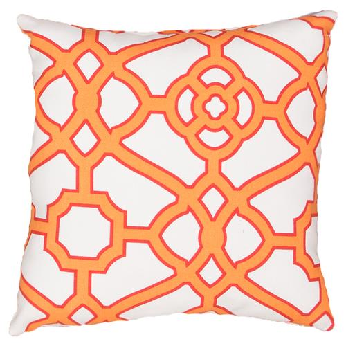 Regency Orange Trellis Outdoor Pillow - 18x18 | Kathy Kuo Home