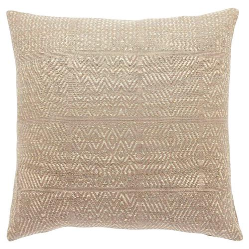 Global Bazaar Champagne Diamond Silk Pillow - 20x20 | Kathy Kuo Home