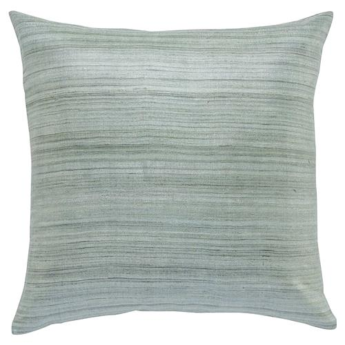 Regency Slate Grey Linear Raw Silk Pillow - 20x20 | Kathy Kuo Home