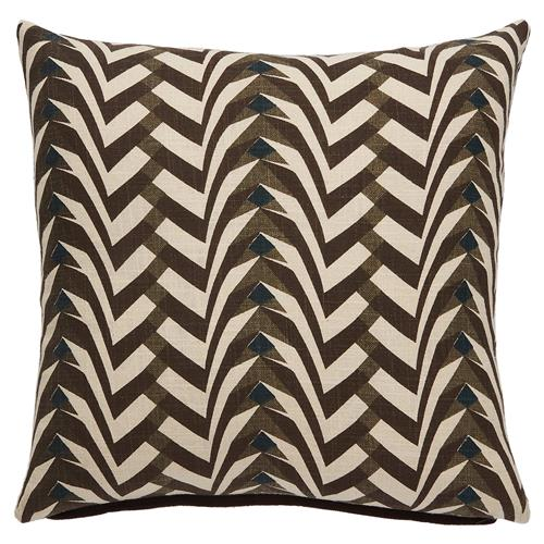 Global Modern Graphic Pebble Brown Pillow - 20x20 Kathy Kuo Home