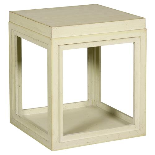 Julia Coastal Rustic Green Box End Table | Kathy Kuo Home