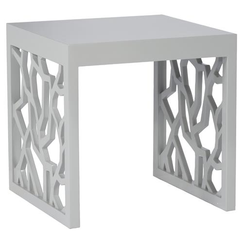 Branch Modern Smooth Grey End Table | Kathy Kuo Home