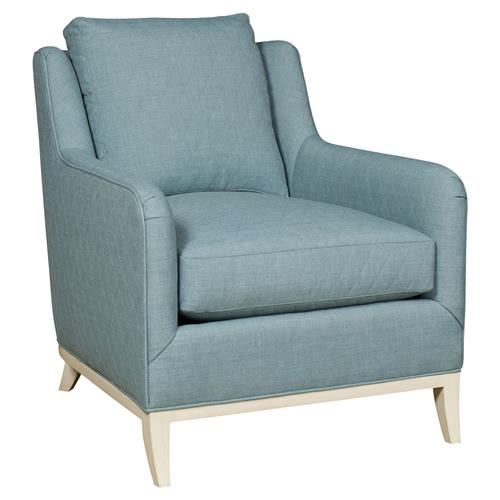 Madison Coastal Diamond Teal Milk Paint Armchair | Kathy Kuo Home