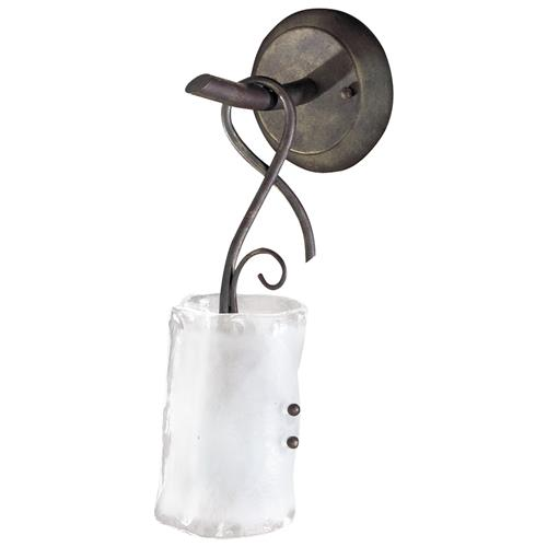 Somerset Wrought Iron Organic Sculpted 1 Light Wall Bracket Sconce | Kathy Kuo Home