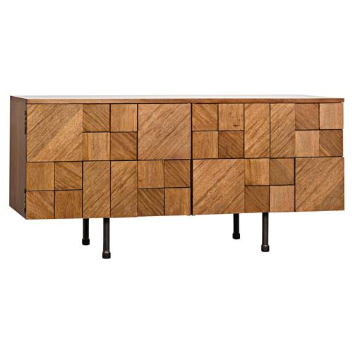 Rodney Modern Classic Pieced Walnut Console Cabinet | Kathy Kuo Home