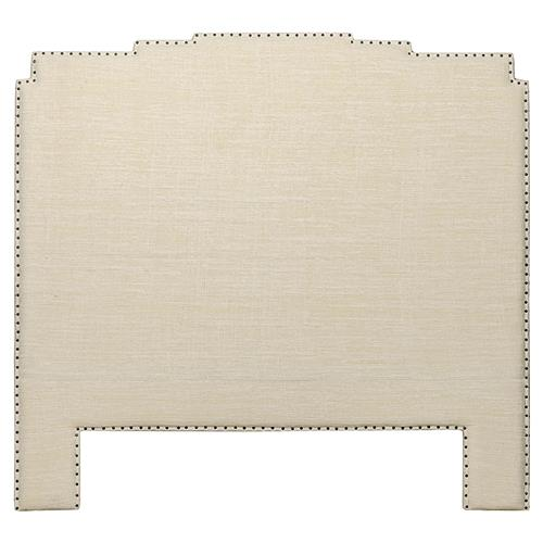 Neala Global Bazaar Beige Terrace Cotton Headboard - Queen | Kathy Kuo Home