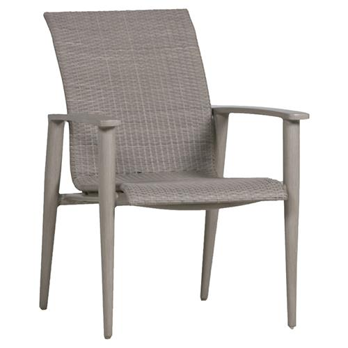 Summer Classics Wind Oyster Grey Wicker Outdoor Armchair | Kathy Kuo Home