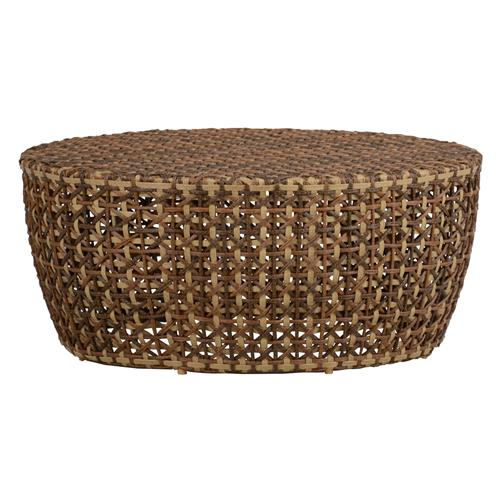 Largo Woven Rattan Drum Outdoor Coffee Table