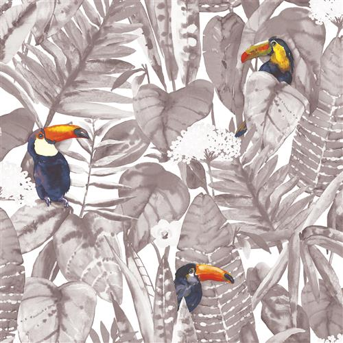 Green Toucan Jungle Global Bazaar Removable Wallpaper | Kathy Kuo Home