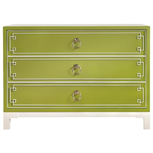 Vanguard Prosser Greek Key Regency Avocado Green Dresser | Kathy Kuo Home