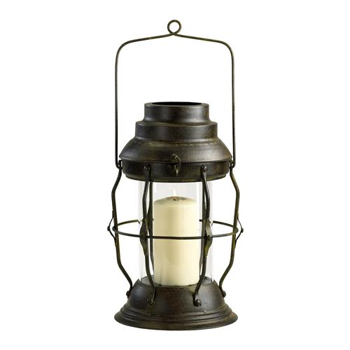 Willow Antique Rustic Cottage Style Oil Lamp Candle Lantern | Kathy Kuo Home