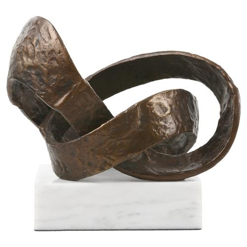 Mobius Global Bazaar Bronze Metal Abstract Sculpture | Kathy Kuo Home
