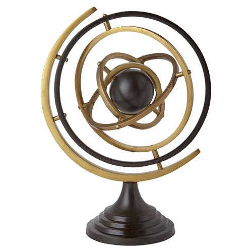 Galileo Modern Bronze Gold Metal Armillary Sphere | Kathy Kuo Home
