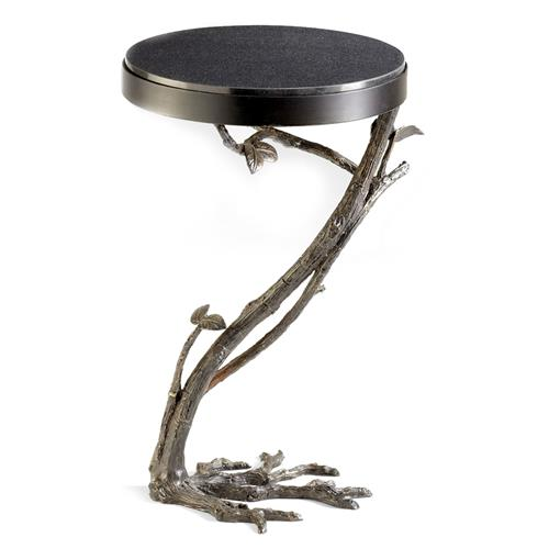 Marcellea Faux Bois Tree Root Sculpted Side Table | Kathy Kuo Home