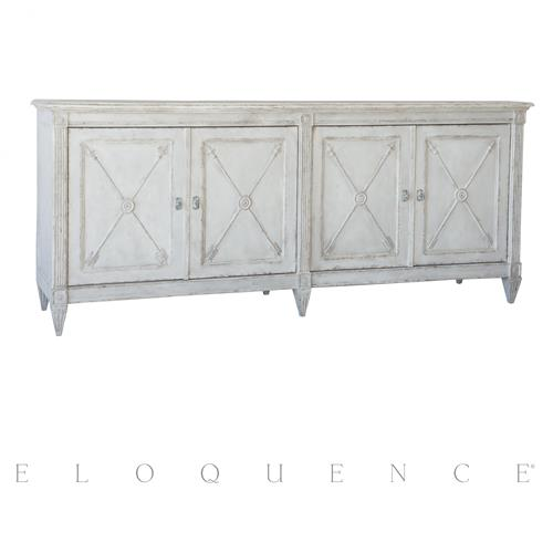 Eloquence Artemis Sideboard in Winter White Finish | Kathy Kuo Home
