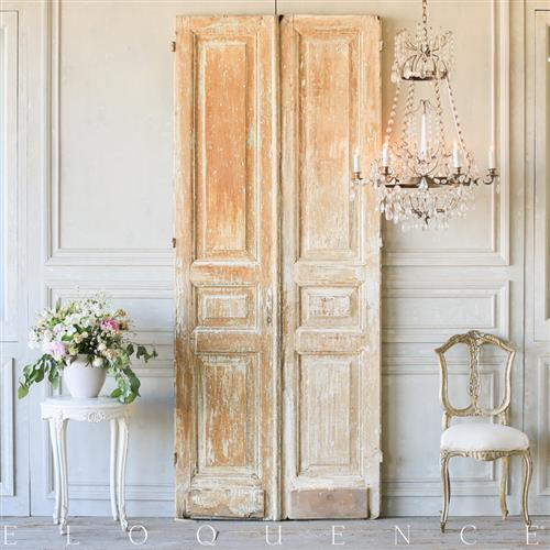 French Country Style Eloquence Pair of Vintage Doors: 1940 | Kathy Kuo Home