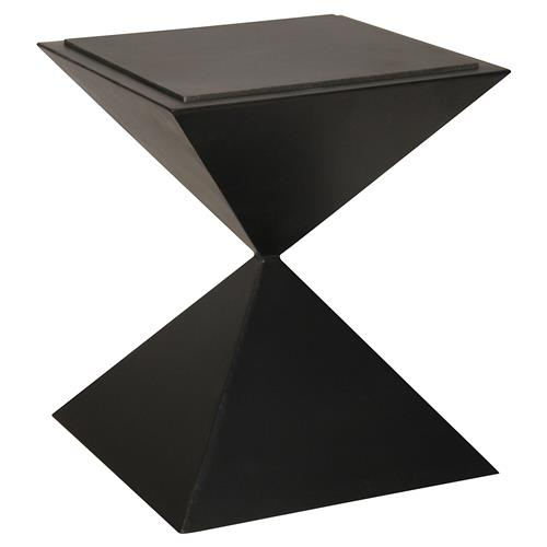 Elmina Modern Classic Metal Stone Square Side Table | Kathy Kuo Home