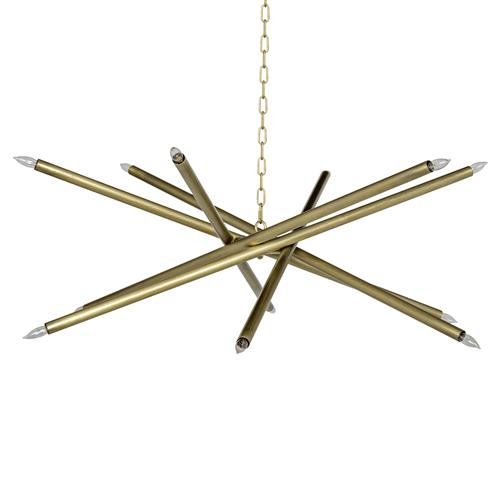 Noir Ikram Modern Classic Antique Brass Chandelier | Kathy Kuo Home