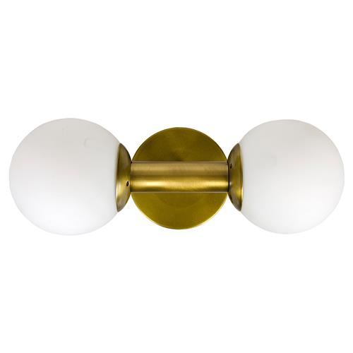 Noir Antiope Modern Classic Antique Brass Glass Globe Sconce | Kathy Kuo Home
