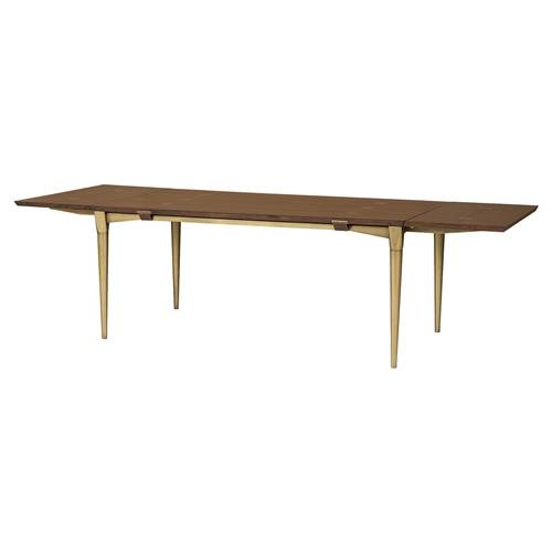 Charlotte Modern Classic Brushed Brass Trim Dining Table | Kathy Kuo Home