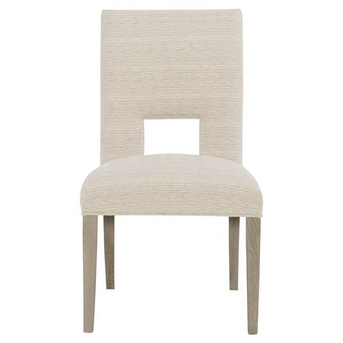 Gwyneth Modern Classic Dark Taupe Upholstered Welted Side Chair | Kathy Kuo Home