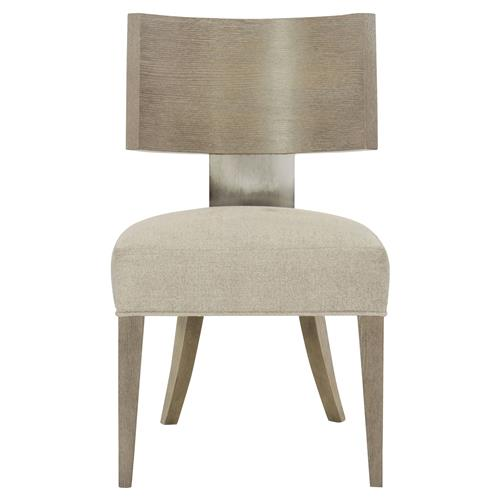 Gwyneth Modern Classic Upholstered Curved Back Bronze Side Chair | Kathy Kuo Home
