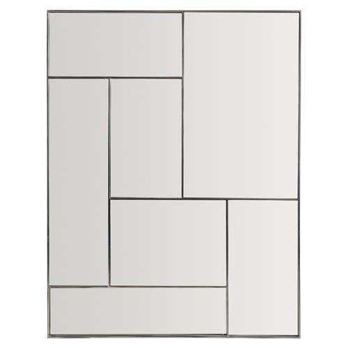 Gwyneth Modern Classic Stainless Steel Paneled Rectangular Mirror | Kathy Kuo Home