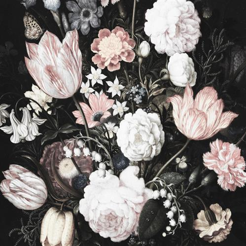 Anewall Dark Floral Blossom Modern Classic  Wallpaper | Kathy Kuo Home