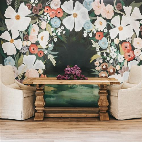Alicia Modern Classic Forest Temporary Wallpaper | Kathy Kuo Home