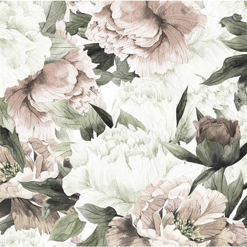 Anewall Blush Modern Classic Soft Pastel Floral Temporary Wallpaper | Kathy Kuo Home