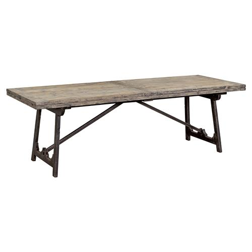Zilla Rustic Industrial Drop Leaf Pine Extendable Dining Table 93 186 31 D 40 D Kathy Kuo Home