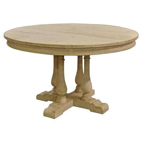 Marche French Country Round Pedestal Dining Table | Kathy Kuo Home