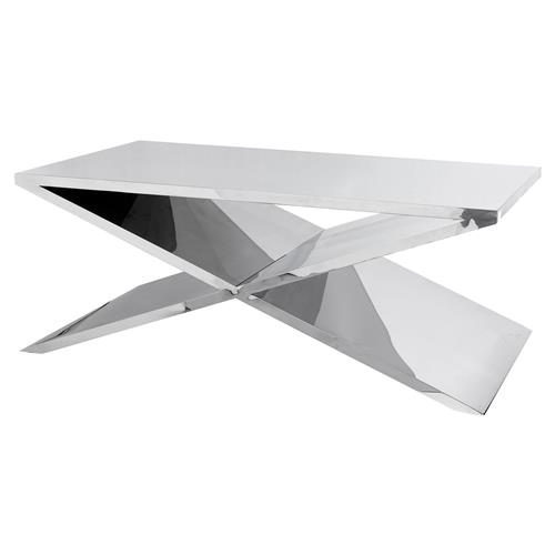 Eichholtz Metropole Modern Classic Glass X Shaped Coffee Table
