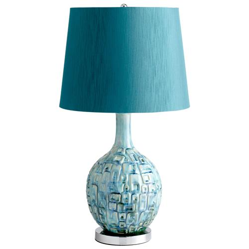 Jordan Coastal Beach Aqua Turquoise Blue Modern Table Lamp | Kathy Kuo Home