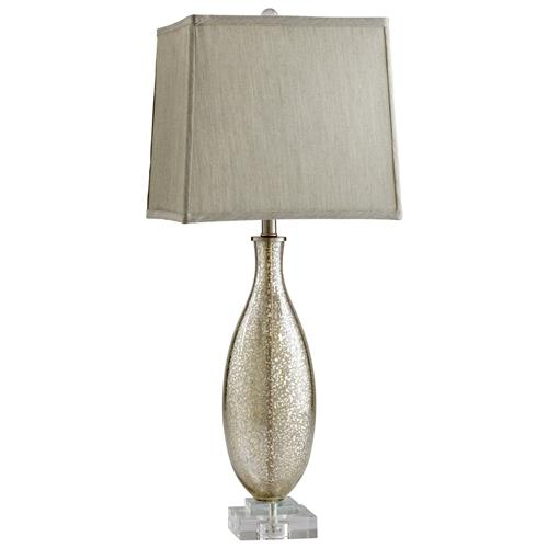 Coco Antique Mercury Glass Modern Elegant Gold Crackle Table Lamp | Kathy Kuo Home