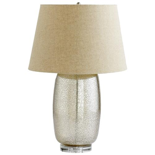 Vista Antique Mercury Glass Modern Elegant Gold Crackle Table Lamp | Kathy Kuo Home