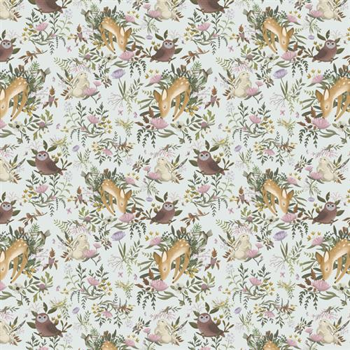 Anewall OH Deer Modern Classic Animals Light Removable Wallpaper | Kathy Kuo Home