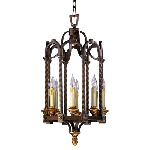 San Giorgio Spanish Revival 8 Light Bronze Foyer Pendant | Kathy Kuo Home
