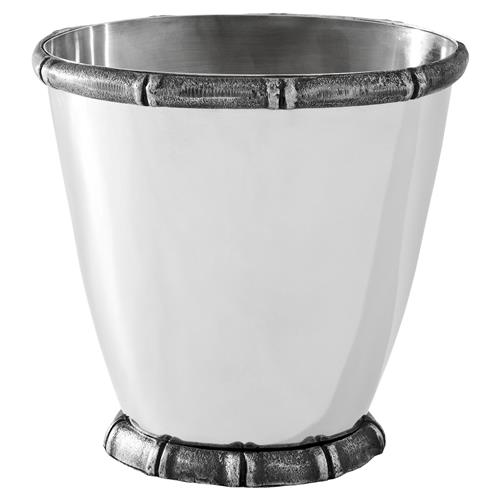 Haiti Global Bazaar Antique Silver Plated Ice Bucket Wine Cooler | Kathy Kuo Home
