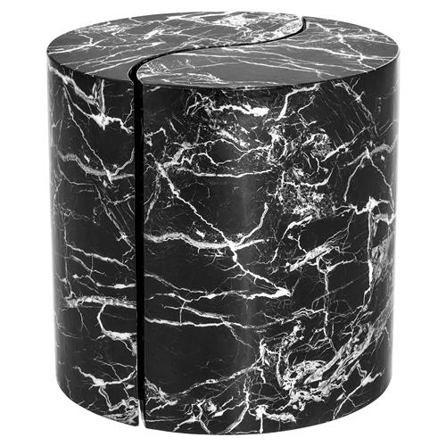 Eichholtz Maori Modern Classic Black Marble Yin Yang Side End Table - Set of 2 | Kathy Kuo Home