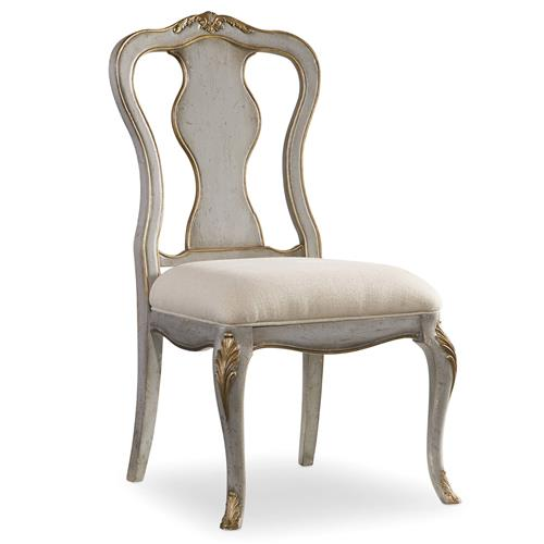 Babel French Country Gold Accent Dining Side Chair | Kathy Kuo Home