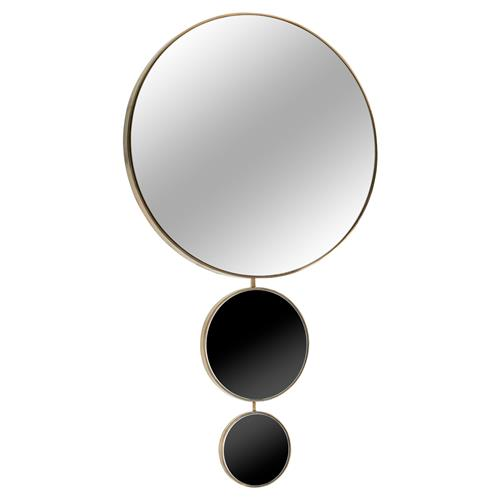 Kelly Hoppen Harrison Modern Classic Brass Trim Graduating Circles and Mirror | Kathy Kuo Home
