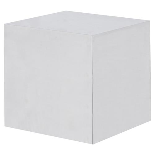 Kelly Hoppen Morgan Modern Classic  Stainless Steel Cube Accent Table | Kathy Kuo Home