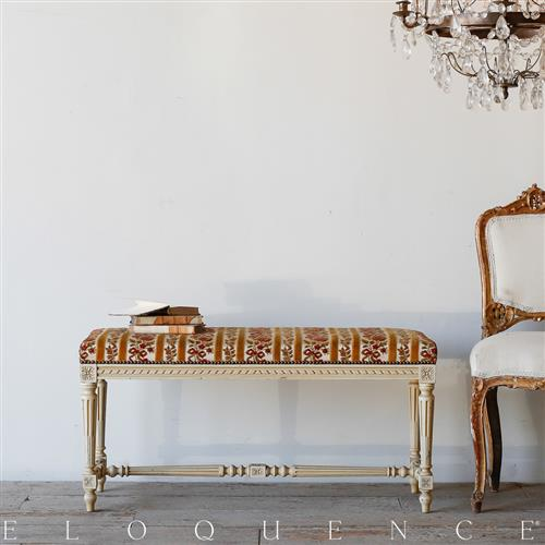 Eloquence French Country Style Antique Bench | Kathy Kuo Home